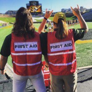 First Aid staff at PHA Bid Day 2016